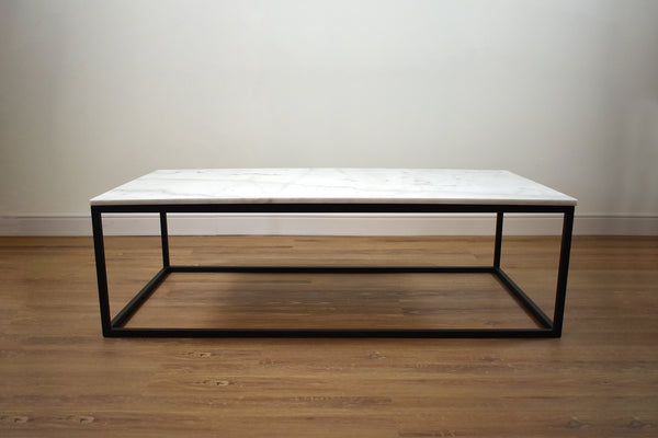 "VENICE 51"" Coffee Table White Marble"