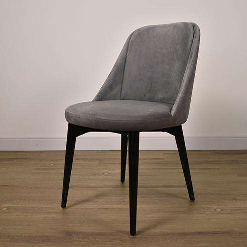 BROOKE VICKY GREY CHAIR Espresso Finish-furniture stores regina-Hunters Furniture