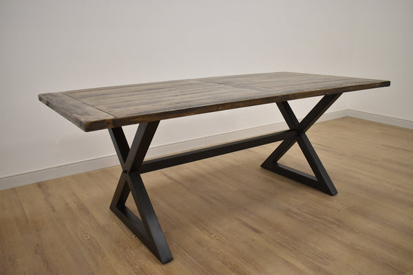 "BURNABY Brown Wood - 78"" Dining Table-furniture stores regina-Hunters Furniture"