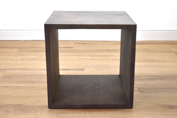 "(Item Discontinued) BERLIN II Grey Concrete   -   16"" Side Table (2 Floor Models Left)"
