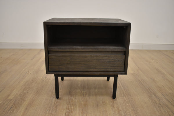 "ECHO PARK Brown Exotic Hardwood - 22"" Night Stand-furniture stores regina-Hunters Furniture"