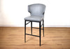 SEATTLE Brown Leather - Nail Studded Dining Chair-furniture stores regina-Hunters Furniture