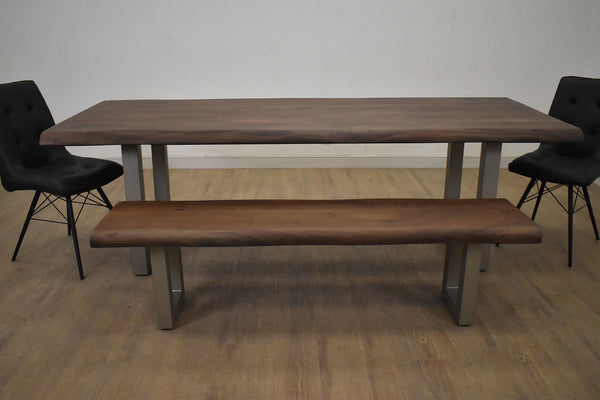 "YONGE Brown Wood - Medium 76"" Dining Table-furniture stores regina-Hunters Furniture"