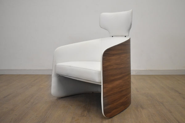 MILAN White Leather - Chair-furniture stores regina-Hunters Furniture
