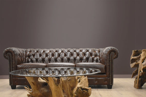 "BEAUMONT CUSTOM LEATHER SOFA 89""-furniture stores regina-Hunters Furniture"