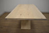 "NEW WEST White Wax Finish Wood - 79"" Dining Table-furniture stores regina-Hunters Furniture"