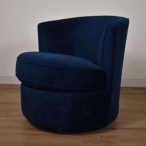 HARTFORD Navy Fabric - Swivel Chair-furniture stores regina-Hunters Furniture