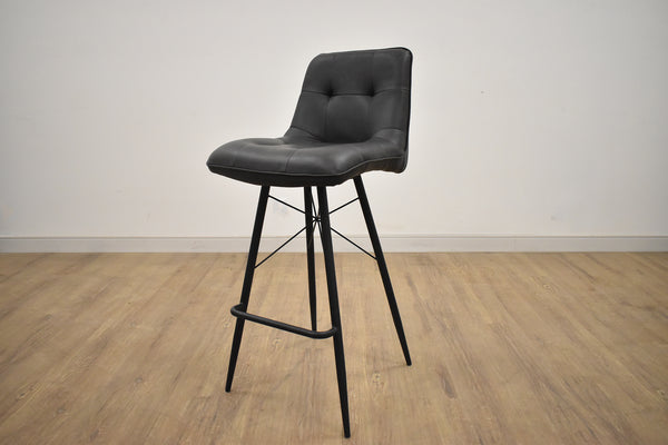 "TORONTO Dark Grey Fabric - 40"" Bar Stool-furniture stores regina-Hunters Furniture"