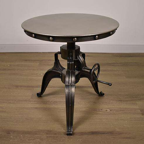"MUNICH Reinforced Metal - 22"" Side Table-furniture stores regina-Hunters Furniture"