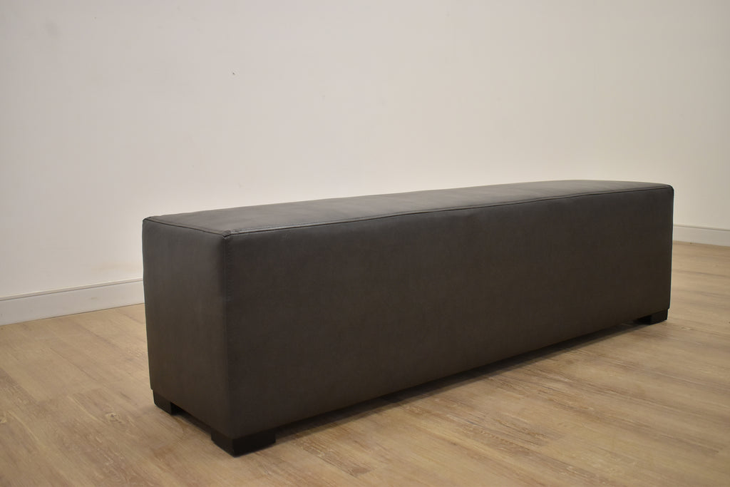 CUBE BENCH in Star Cube Black Legs Montana Charcoal (12)-furniture stores regina-Hunters Furniture