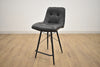 "TORONTO Dark Grey Fabric - 36"" Counter Stool-furniture stores regina-Hunters Furniture"