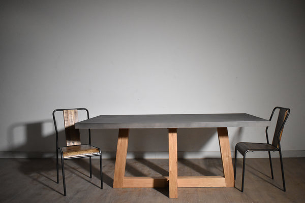 "ALTOS Dark Grey Concrete - 71"" Dining Table-furniture stores regina-Hunters Furniture"