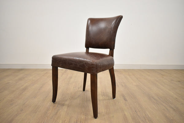 NOTTINGHAM Brown Leather - F Dining Chair-furniture stores regina-Hunters Furniture