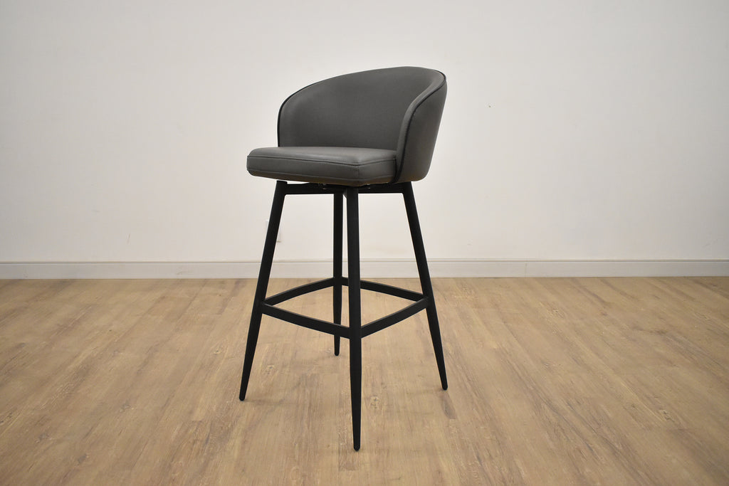 "DETROIT Dark Grey Fabric - 37"" Counter Stool-furniture stores regina-Hunters Furniture"