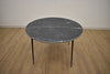 "601 Black Marble - 49"" Round Dining Table-furniture stores regina-Hunters Furniture"