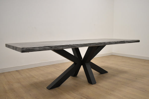 "SANTA MONICA Grey Stained Wood - 98"" Dining Table-furniture stores regina-Hunters Furniture"