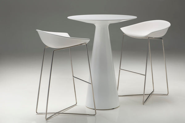 VALLEY White Poly Resin - Counter Height Table-furniture stores regina-Hunters Furniture