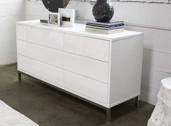 "MANHATTAN White Wood - 64"" Dresser-furniture stores regina-Hunters Furniture"