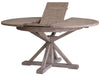 "SAN MARCOS Round Extension Sundried Dining Table Wood - 63"" Dining Table-furniture stores regina-Hunters Furniture"