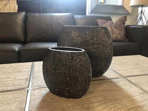 "Set Of Two - Antique Charcoal Finish W:11.5"" X H:10"" X D:5"" W:8"" X H:7"" X D:3.5""-furniture stores regina-Hunters Furniture"