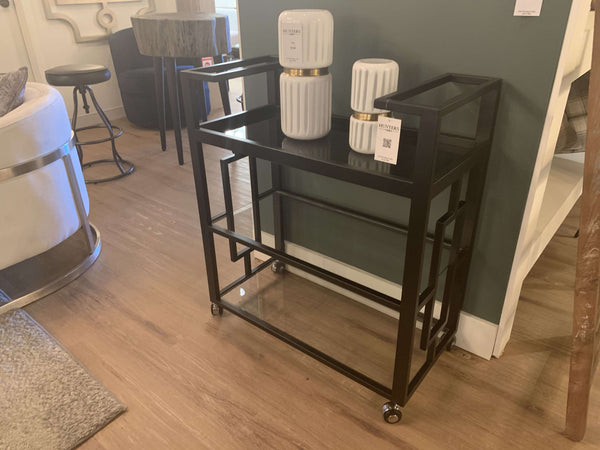 "BROOKS Black Metal - 32"" Trolley-furniture stores regina-Hunters Furniture"