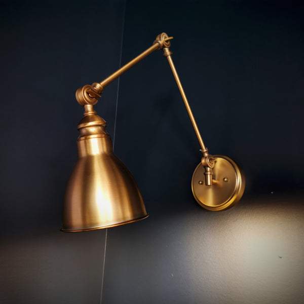 Dakota 1 Light Adjustable Sconce Warm Brass-furniture stores regina-Hunters Furniture