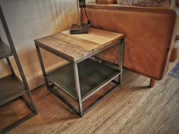 "SilVER LAKE Brown Exotic Hardwood - 20"" Side Table-furniture stores regina-Hunters Furniture"