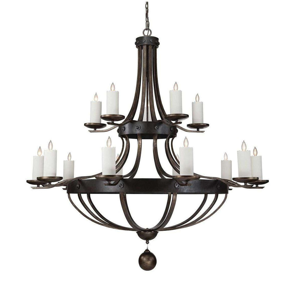 "(Item Discontinued) 80"" Chandelier in Wood finish, 15 Light Reclaimed Wood (Display)-furniture stores regina-Hunters Furniture"