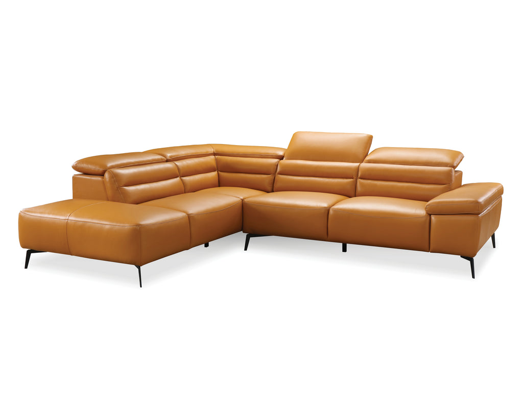 "SYDNEY Camel Leather - 80"" Sectional-furniture stores regina-Hunters Furniture"