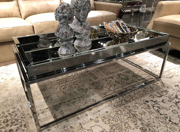 "KITSILANO Antiqued Mirror - 47"" Coffee Table-furniture stores regina-Hunters Furniture"