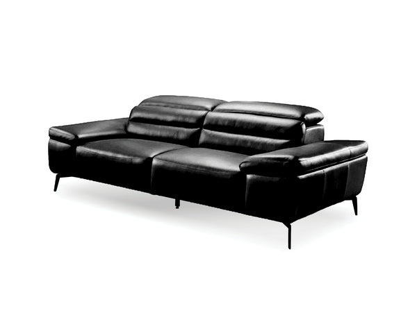 "SYDNEY Black Leather - 70"" Loveseat-furniture stores regina-Hunters Furniture"