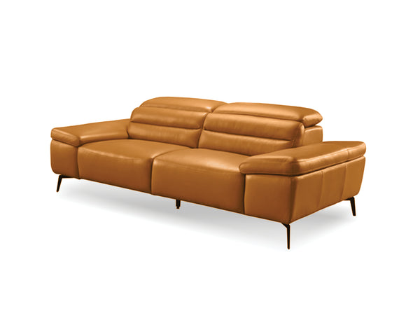 "SYDNEY Camel Leather - 70"" Loveseat-furniture stores regina-Hunters Furniture"