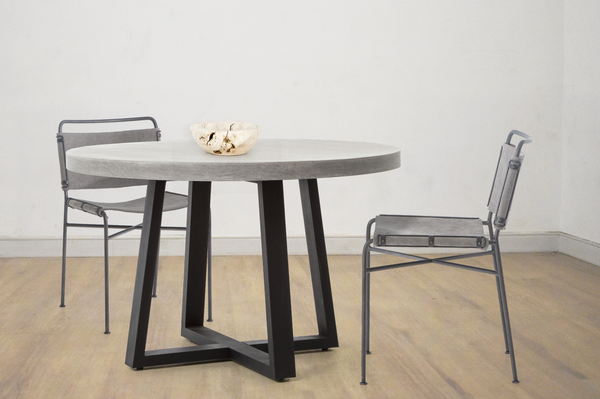"BERLIN Grey Poly Resin - 47"" Dining Table-furniture stores regina-Hunters Furniture"