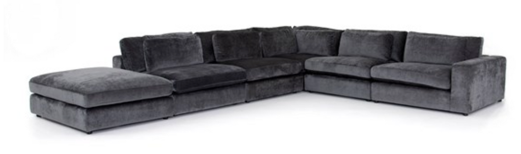 SOHO Charcoal Grey Fabric   -   131'' x 170'' Sectional
