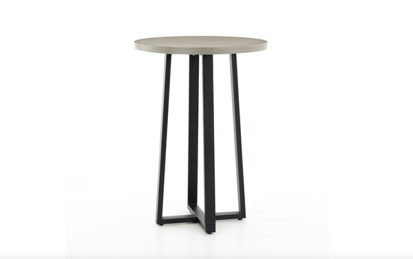 "BERLIN Grey Poly Resin - 30"" Bar Table"