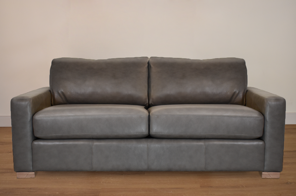 "VAUGHAN CUSTOM LEATHER LOVESEAT 72""-furniture stores regina-Hunters Furniture"