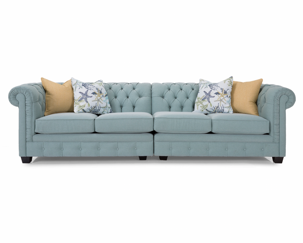 "BEAUMONT CUSTOM FABRIC 2 PC SOFA 116""-furniture stores regina-Hunters Furniture"