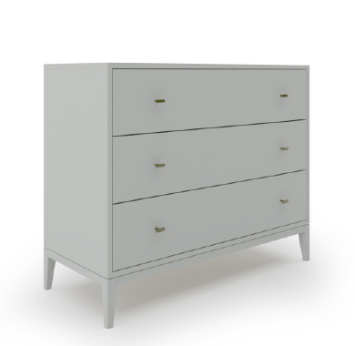 Annex Dresser, 44 C09 Smoke Maple H05 Satin Brass-furniture stores regina-Hunters Furniture