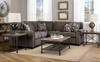 "KINGSTON CUSTOM FABRIC 3 PC SECTIONAL 120"" x 120""-furniture stores regina-Hunters Furniture"