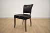 NOTTINGHAM Black Leather   -   L Dining Chair