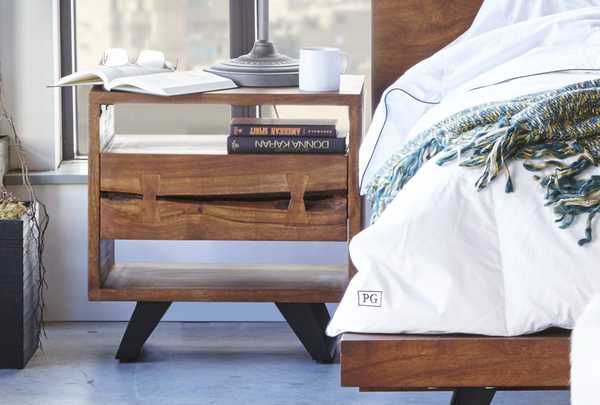 INDY LIVE EDGE 1 DRAWER NIGHTSTAND
