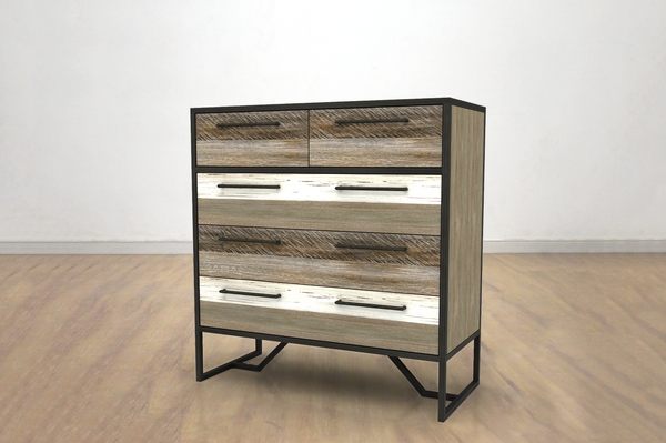 "SILVER LAKE 39"" Dresser Grey and Brown Exotic Hardwood"