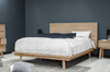 "MADERA 83"" King Bed - Light Grey Exotic Hardwood"