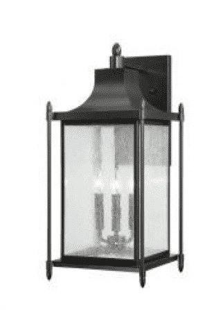 "Dunnmore Wall Mount Lantern 23.5"" Black-furniture stores regina-Hunters Furniture"