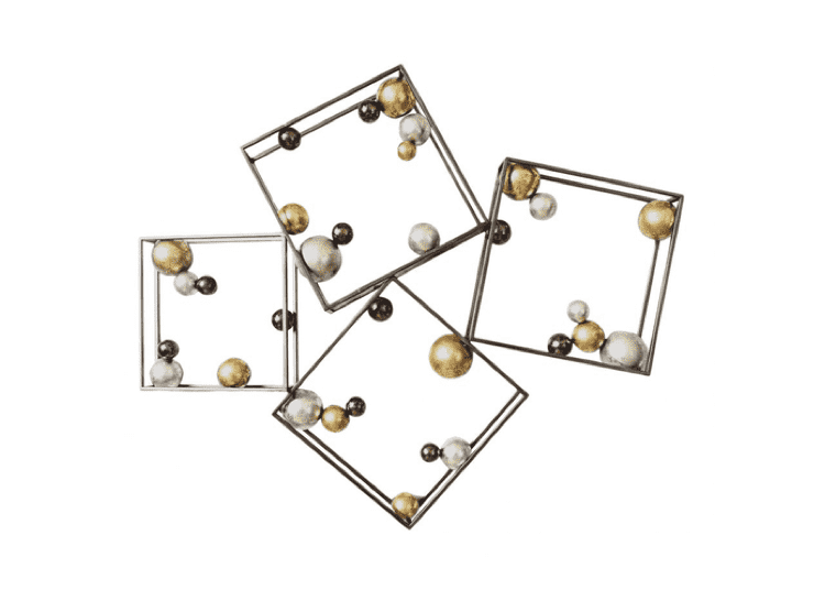 "(Item Discontinued) N123 Gold, Silver, Metal Metal   -   45"" Wall Decor"