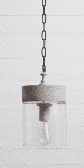 (Item Discontinued) CONCRETE MASON PENDANT - FINAL SALE-furniture stores regina-Hunters Furniture
