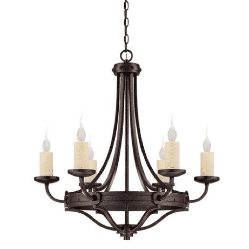 (Item Discontinued) Elba 6 Light Chandelier-furniture stores regina-Hunters Furniture