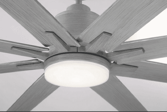 "Bluffton 72"" 8 Blade Ceiling Fan Grey Wood-furniture stores regina-Hunters Furniture"