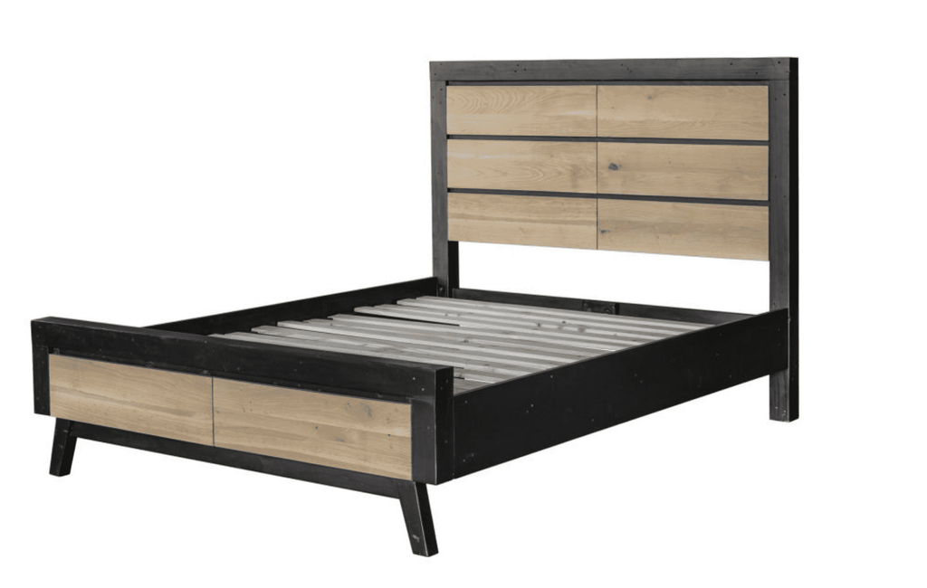 "TRIBECA Light Brown and Black Wood - 79"" King Bed-furniture stores regina-Hunters Furniture"