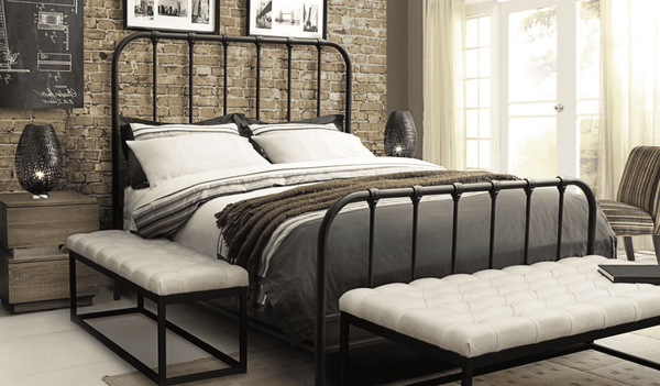 "GASTOWN Rust Brown Metal - 64"" Queen Bed-furniture stores regina-Hunters Furniture"